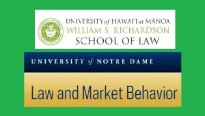 University of Hawai'i at Manoa William S. Richardson School of Law and University of Notre Dame LAMB
