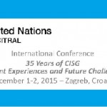 UNCITRAL and Zagreb 35 Years of CISG