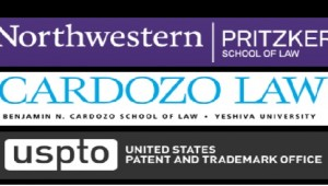 Northwestern Pritzer School of Law, Cardozo Law, USPTO logos