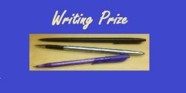 """Writing Prize"" with picture of three pens"