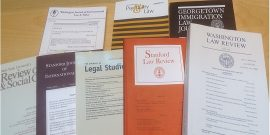 photo of 8 law journals