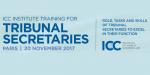 ICC Training for Tribunal Secretaries