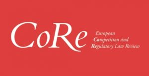 CFP: European Competition & Regulatory Law Review
