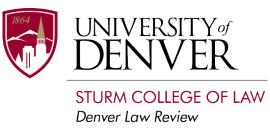 University of Denver Sturm College of Law, Denver Law Review logo