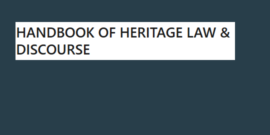 Handbook of Heritage Law and Discourse