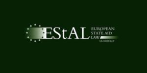 CFP: European State Aid Law Quarterly