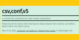 CFP Deadline: csv,conf,v5 (data)