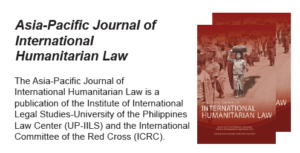 CFP Deadline: Asia-Pacific Journal of International Humanitarian Law
